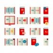 Stock Vector: Book icons.