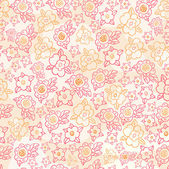 Floral ornamental seamless pattern. — Stock Vector