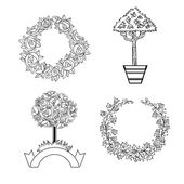 Set of ornament for design — Stock Vector