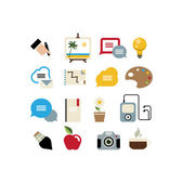 Art and education icons — Stock Vector
