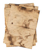 Set of various old paper sheets. — Stock Photo