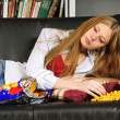 Teenage girl on the sofa - Photo