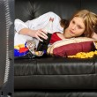 Teenage girl on the sofa — Stock Photo #19619331