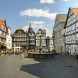 City Of Fritzlar, marketplace - Stock Photo