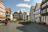 City Of Fritzlar, marketplace — Stok fotoğraf
