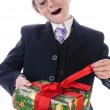 Little boy with a gift — Stock Photo