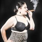 XXL Model Smoking Cigar — Stock Photo #31150453