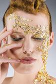 Gold Make Up — Stock Photo