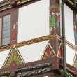 Half-timbered house in the Weser Renaissance style, detail — 图库照片