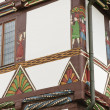 Half-timbered house in the Weser Renaissance style, detail — Stok fotoğraf