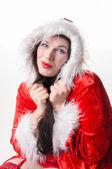 Christmas woman with collar — Stock Photo