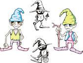 有趣的小妖精 — 图库矢量图片