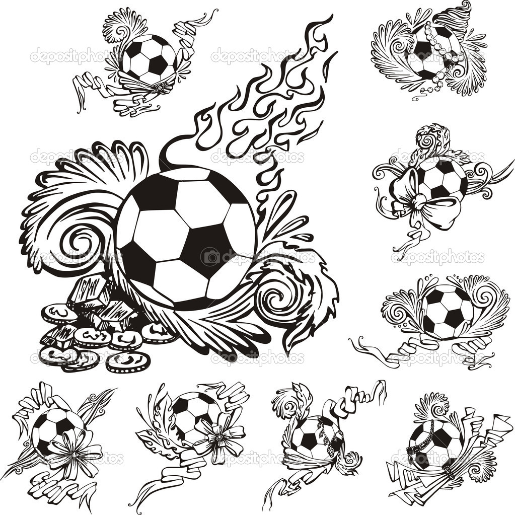 cool soccer balls coloring pages - photo#34