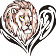Lion tattoo — Vector de stock #12346335