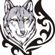Wolf tattoo — Image vectorielle
