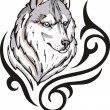 Wolf tattoo - Stock Vector