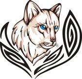 Cat tattoo — Wektor stockowy