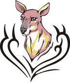 Kangaroo tattoo — Stock Vector