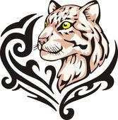 豹子纹身 — 图库矢量图片