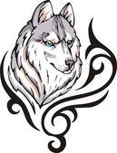 オオカミの入れ墨 — ストックベクタ