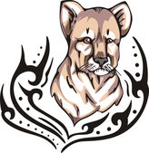 Leeuw cub tattoo — Stockvector