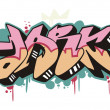 Stock Vector: Graffito - dark