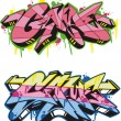 Stock Vector: Graffito - game