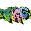 Vector de stock : Graffito - time