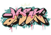Graffito - dark — Stock Vector