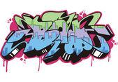 Graffito - boy — Stock Vector