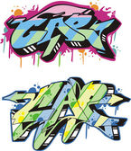 Graffito - cap — Vector de stock