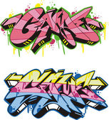 Graffito - game — Stock Vector