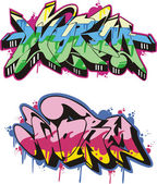 Graffito - worm — Vector de stock