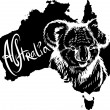 Koala as Australian symbol — Stockvectorbeeld