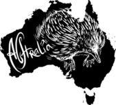 ехидна наклз как австралийский символ — Cтоковый вектор