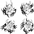 Viking heads — Stock Vector