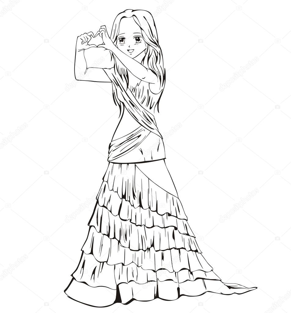 Вечернее Платье Аниме 62