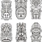 Aztec totem poles — Stock Vector #16294531
