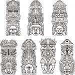Aztec totem poles — Stock Vector #16294615