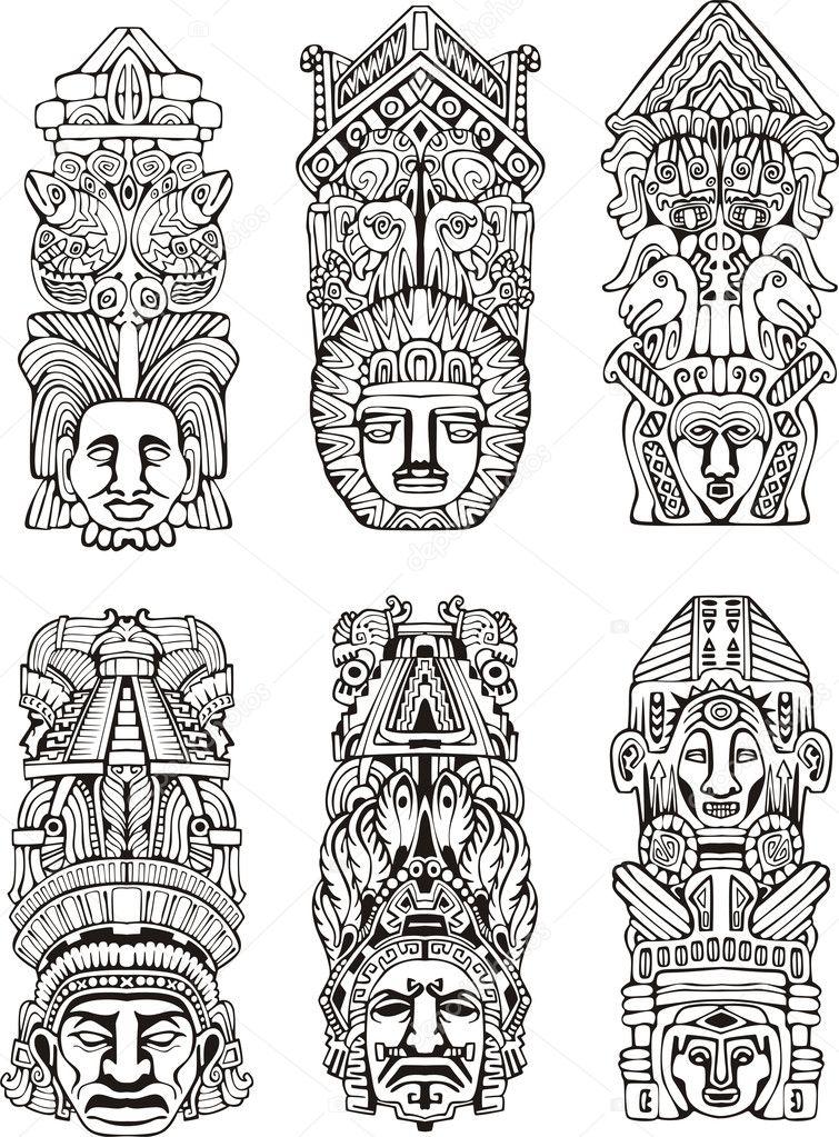 Aztec Designs Coloring Pages Aztec Designs
