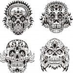 Floral skulls — Stock Vector #16646405