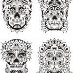Floral skulls — Stock Vector #16646415