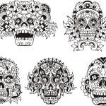 Floral skulls — Stock Vector #16646425