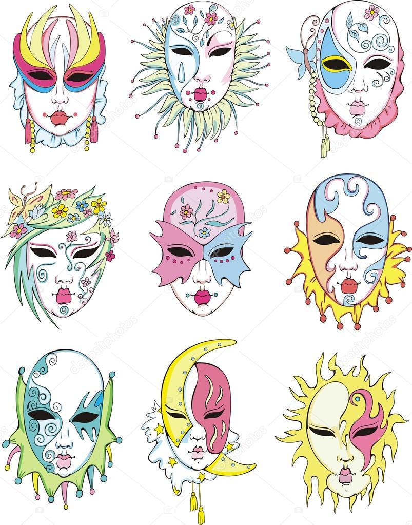 Рисунки маски на маскарад