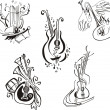 Постер, плакат: Stylized musical instruments