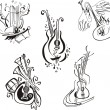 ������, ������: Stylized musical instruments