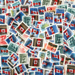 Royalty-Free Stock Photo: Canadian postage stamps with national flag