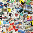 Stock Photo: Background of old Germpostage stamps