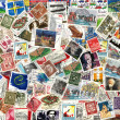 Background of old Germany postage stamps — Stock Photo