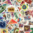 Stock Photo: Background of sport postage stamps